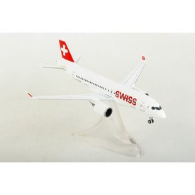 Herpa A220-100 Swiss International HB-JBB 1:200 with stand