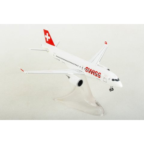 A220-100 Swiss International HB-JBB 1:200 with stand