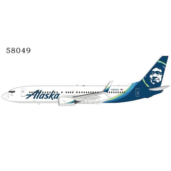 NG Models B737-800S Alaska Airlines 2014 livery N565AS 1:400 scimitars