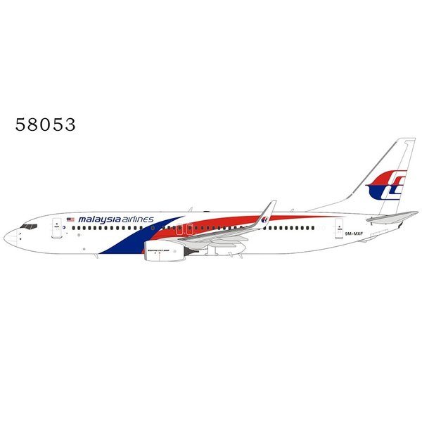 NG Models B737-800W Malaysia Airlines 2019 livery 9M-MXF 1:400