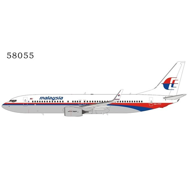 NG Models B737-800W Malaysia Airlines 9M-FFF / 9M-MLH 1:400