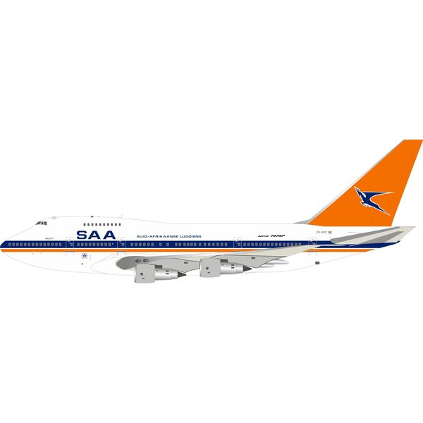 InFlight B747SP South African old livery ZS-SPC 1:200