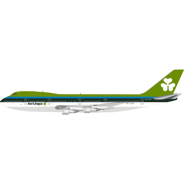 InFlight B747-100 Aer Lingus EI-BED 1:200 with stand