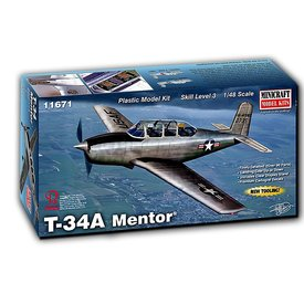 Minicraft Model Kits Beechcraft T34A/B Mentor 1:48 New Tool 2018