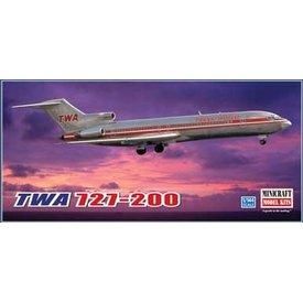 """Minicraft Model Kits B727-200 TWA """"Project Skinny"""" 1:144"""