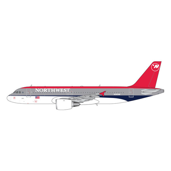 Gemini Jets A320 Northwest Bowling Shoe N365NW 1:400 +Preorder+
