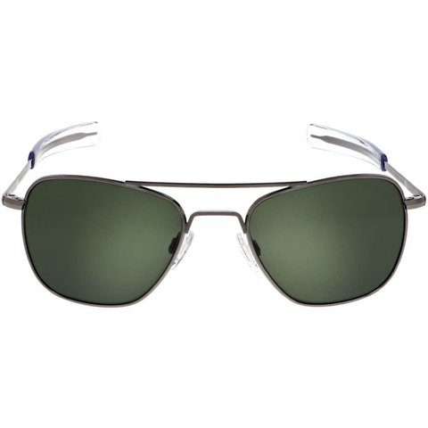 Aviator Gun Metal Bayonet Glass AGX AR 55 Sunglasses