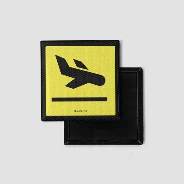 Airportag Magnet Arrivals Sign