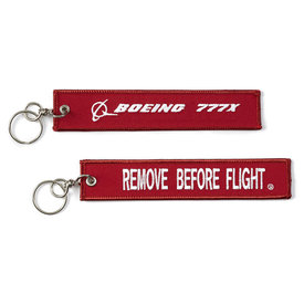 Boeing Store 777x Remove Before Flight Keychain