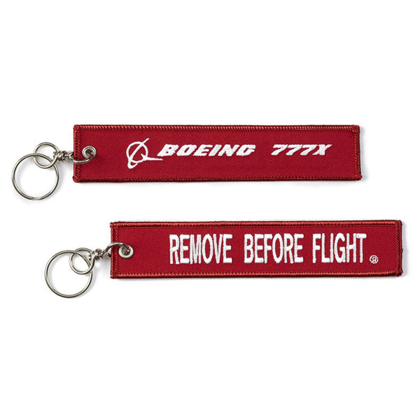 Boeing Store 777x Remove Before Flight Keychain