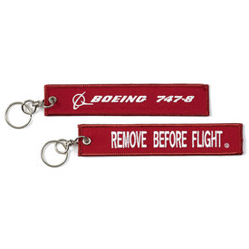 Boeing Store 747-800  Remove Before Flight Keychain