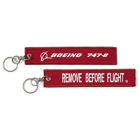 747-800  Remove Before Flight Keychain