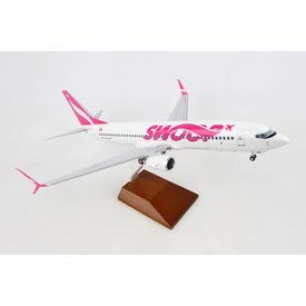 Skymarks Supreme B737-800W Swoop 1:100 with wood stand & gear