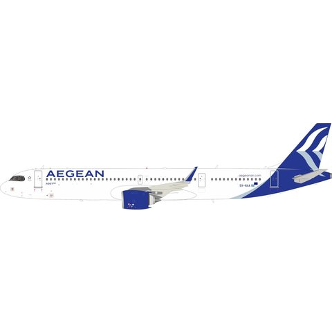 A321neo Aegean Airlines SX-NAA 1:200 with stand