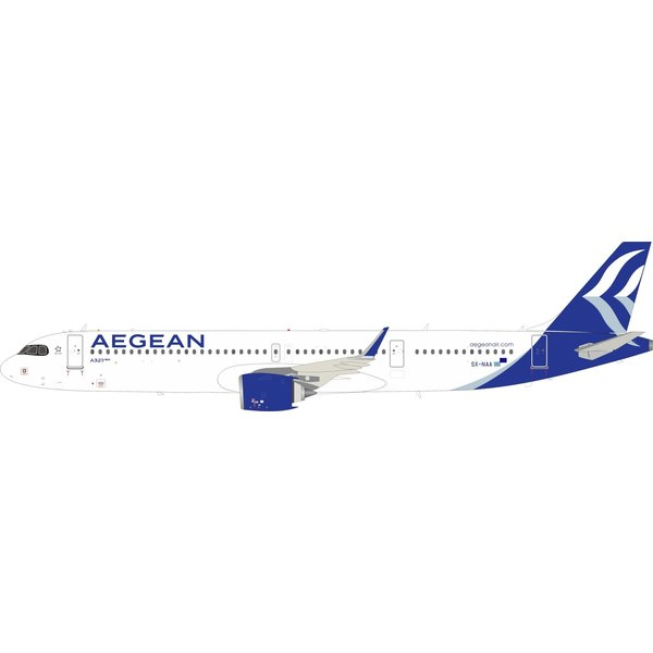 InFlight A321neo Aegean Airlines SX-NAA 1:200 with stand