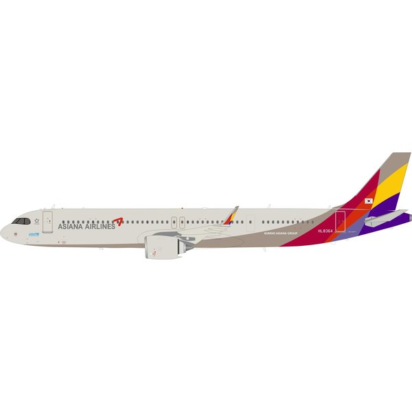 InFlight A321S Asiana Airlines HL8364 1:200 with stand