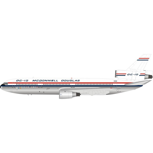 InFlight McDonnell Douglas DC10 House N10DC 1:200 polished +Preorder+