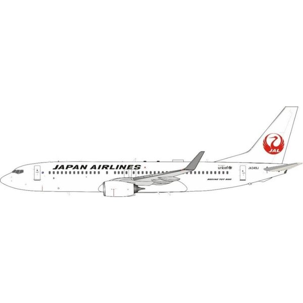 JFOX B737-800W JAL Japan Airlines JA349J 1:200