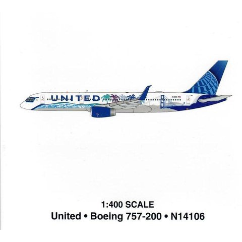 B757-200W United Her Art Here California N14106 1:400