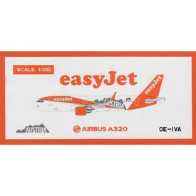 JC Wings A320S Easyjet Europe Austria Livery OE-IVA 1:200
