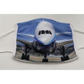 avworld.ca Face Mask 787 Aircraft Nose