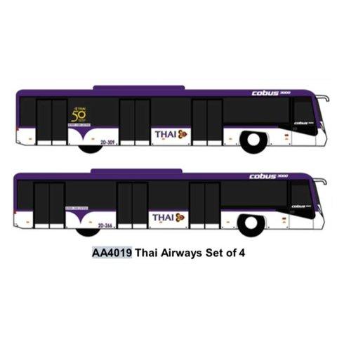 Airport Bus Thai Airways  1:400 (4 in each set)