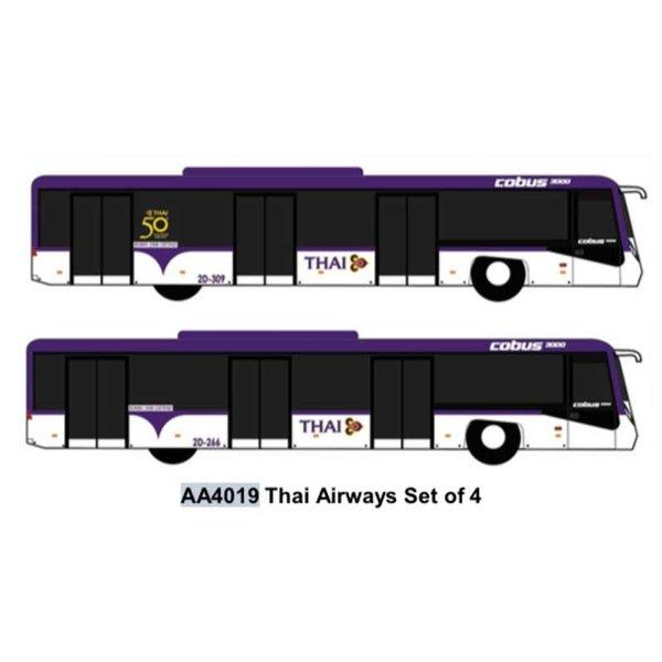 JC Wings Airport Bus Thai Airways  1:400 (4 in each set)