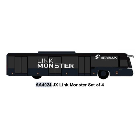 Airport Bus Starlux Link Monster 1:400 (4 in each set)