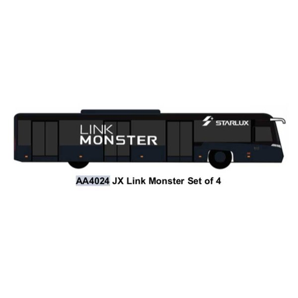 JC Wings Airport Bus Starlux Link Monster 1:400 (4 in each set)