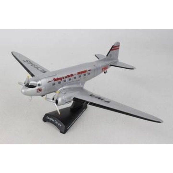Postage Stamp Models DC3 Trans World Airlines TWA NC1945 1:144
