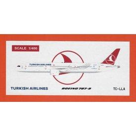 JC Wings B787-9 Dreamliner Turkish Airlines TC-LLA 1:400 flaps