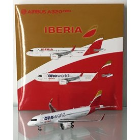 JC Wings A320neo Iberia Oneworld EC-NFZ 1:400