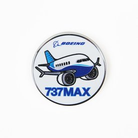 Boeing Store Pin Boeing 737MAX Pudgy