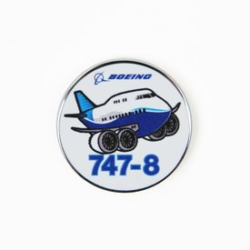 Boeing Store Pin Boeing 747-8 Pudgy