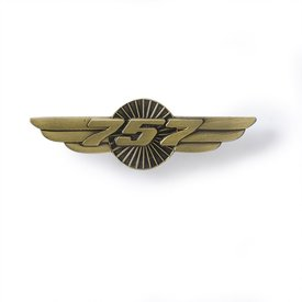 "Boeing Store Pin 757 Wings Bronze 1 1/2"" *NSI**"