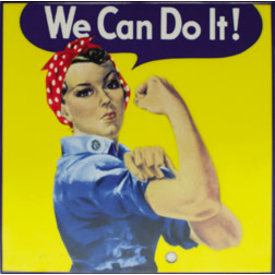 Trivet Rosie The Riveter We Can Do It
