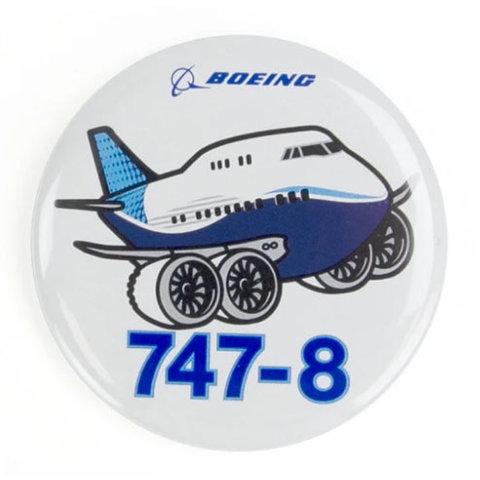 Button Boeing 747-8