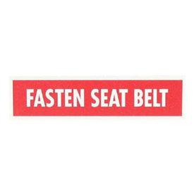 Sporty's Fasten Seatbelt Placard