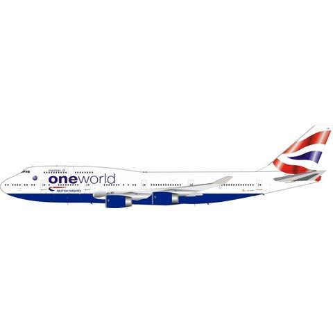 B747-400 British Airways oneworld G-CIVP Speed Record 1:200 +Preorder+