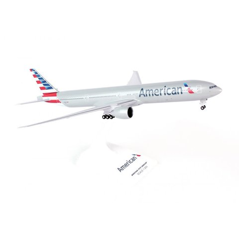 B777-300 American  2013 Livery 1:200 with gear + stand
