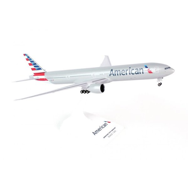 SkyMarks B777-300 American  2013 Livery 1:200 with gear + stand