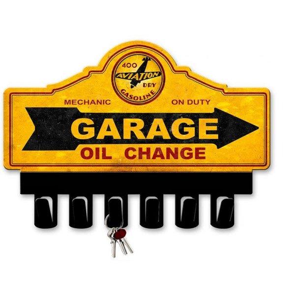 Sign 400 Aviation Dry Gasoline Metal Key Hanger