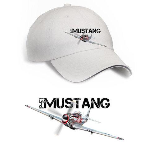 Cap P-51 Mustang USAF Printed