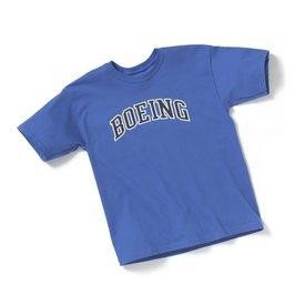 Boeing Store Kids Boeing Varsity Logo Tee Royal Blue