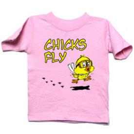 Kid's Tee Chicks Fly
