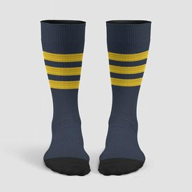 Airportag Pilot Stripes Socks Gold on Navy
