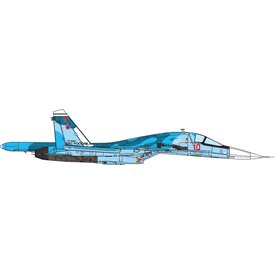 JC Wings SU34 Fullback Russian Air Force RED10 blue 1:72
