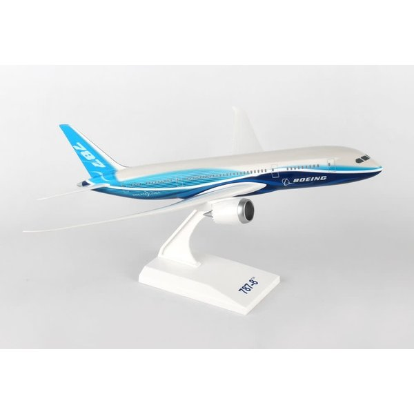 SkyMarks B787-8 Dreamliner Boeing House 1:200 with Spinning Engines
