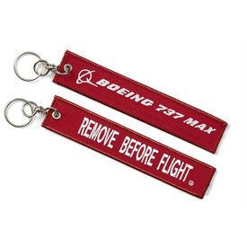 Boeing Store 737 Max Remove Before Flight Keychain