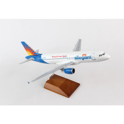 A320 Allegiant 1:100 Supreme with wooden stand + gear